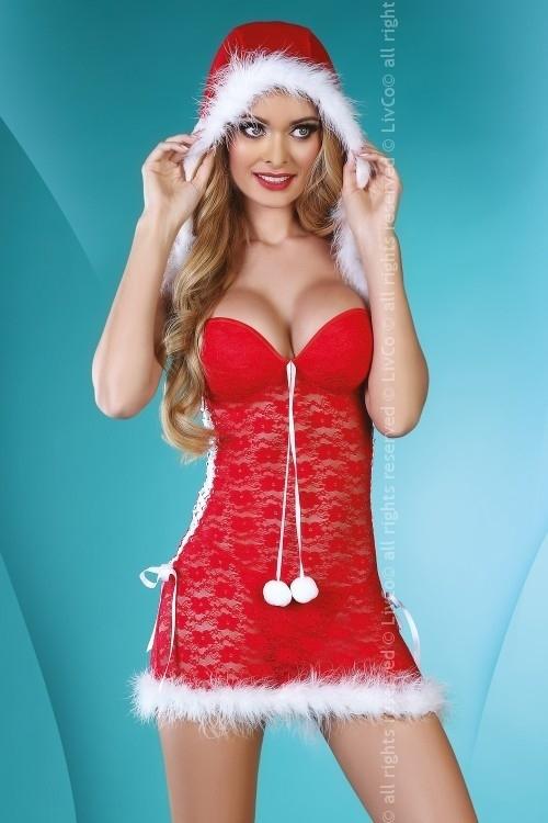 фото красивых девушек в новогоднем эротическом костюме