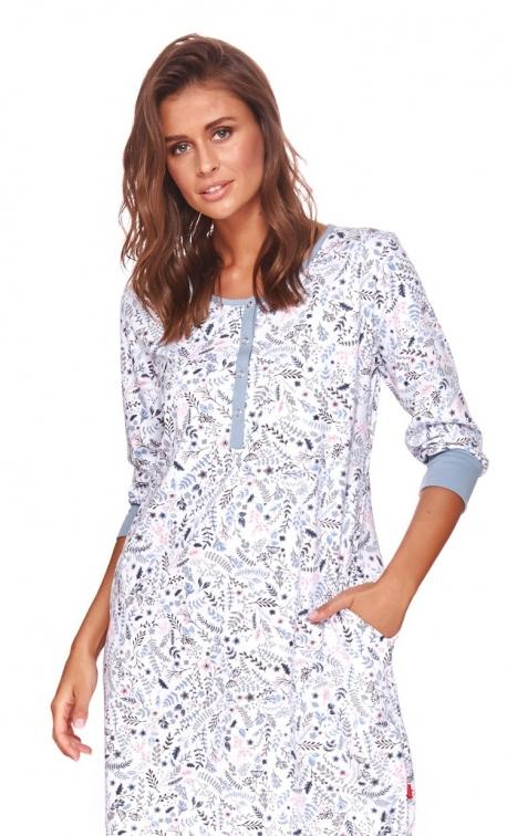 Koszula nocna Plus Size w piękny kwiatowy wzór