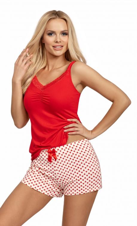 Piżama damska Donna Ester 1/2 Red