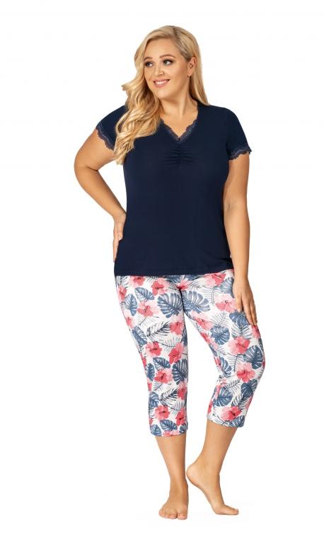 Piżama damska Donna Mila 3/4 Plus