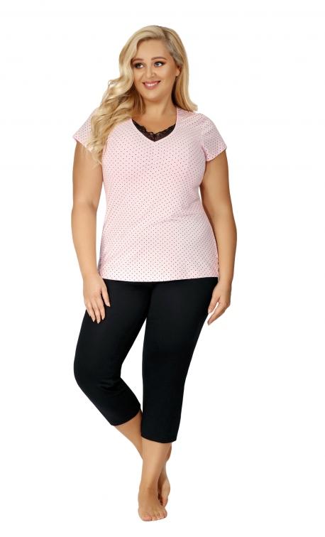 Piżama damska Donna Alice 3/4 Plus Pink