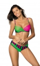 Kostium kąpielowy Tamara Blu Scuro-Blight Green-Rosa Shocking M-399 (3)