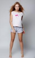 Piżama damska Sensis Pink Smile Ecru