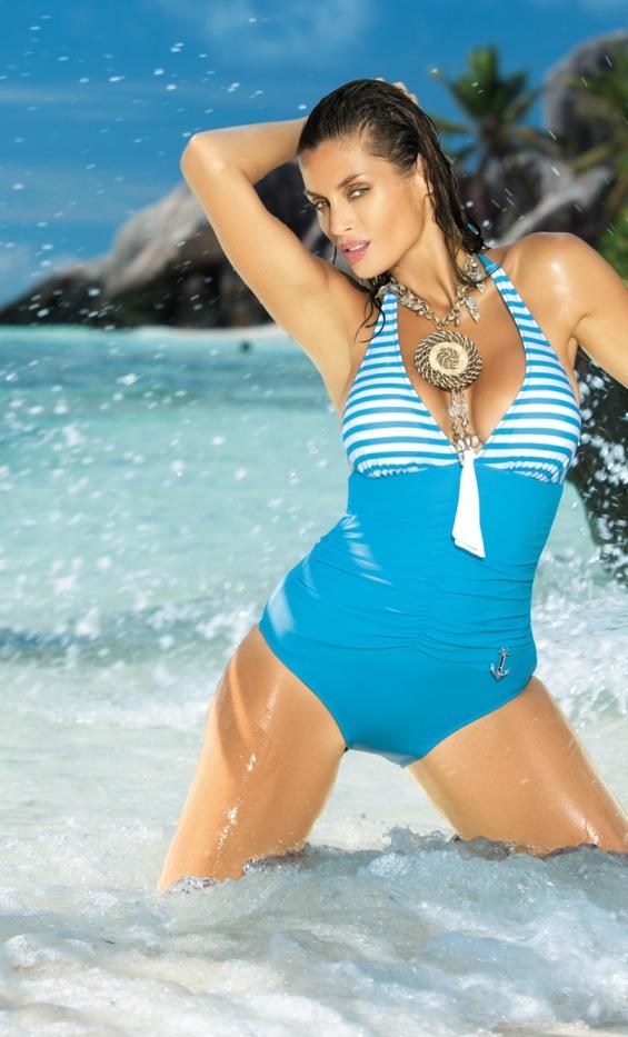 Kostium kąpielowy Caroline M-175 błękitny (71)