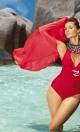 Kostium kąpielowy Martina M-178 czerwień ferrari (161)