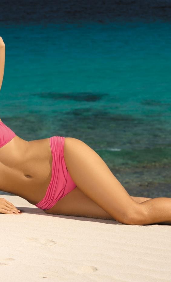 Kostium kąpielowy Larisa Popstar M-204 Różowy (4)