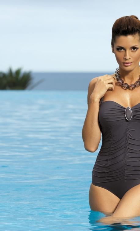Kostium kąpielowy Melanie Fuliggine M-203 Ciemny Popiel (68)