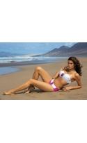 Kostium kąpielowy Olimpia Pink-Bianco M-194 Różowo-Biały (115)