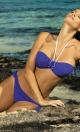 Kostium kąpielowy Emily Oltremare M-217 Niebieski (143)