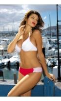 Kostium kąpielowy Miranda Bianco-Ginger M-215 Biało-Czerwony (171)