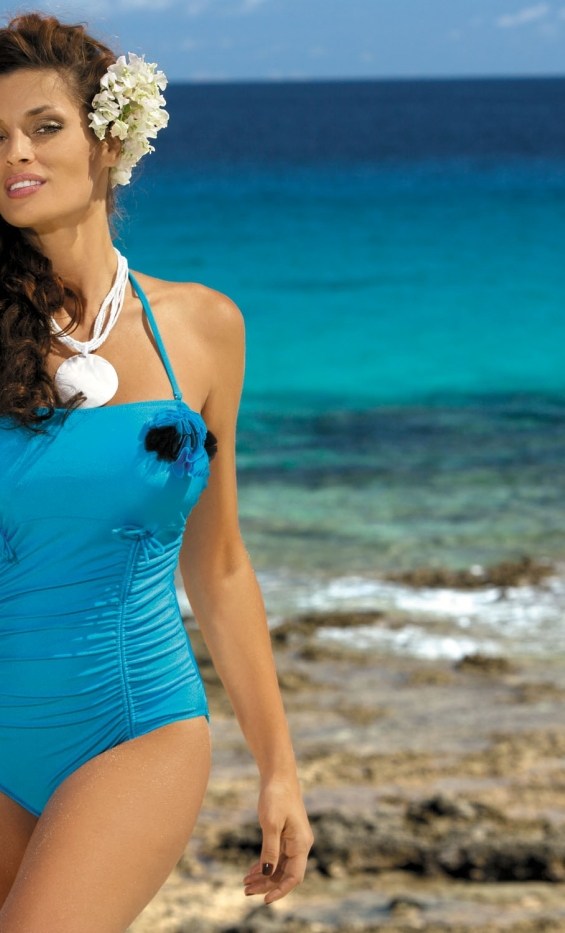 Kostium kąpielowy Shila Turchese M-202 Niebieski (193)