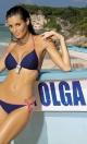 Kostium kąpielowy Megan Blu Scuro + Red M-251 Granatowo-czerwony (84)