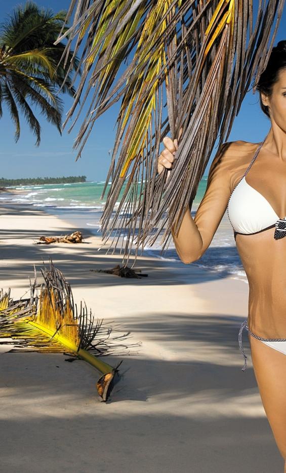 Kostium kąpielowy Megan Ecru + Brown M-251 Ecru-Brązowy (83)