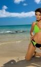 Kostium kąpielowy Roxie Nero-Smile M-326 zielony z czernią (101)