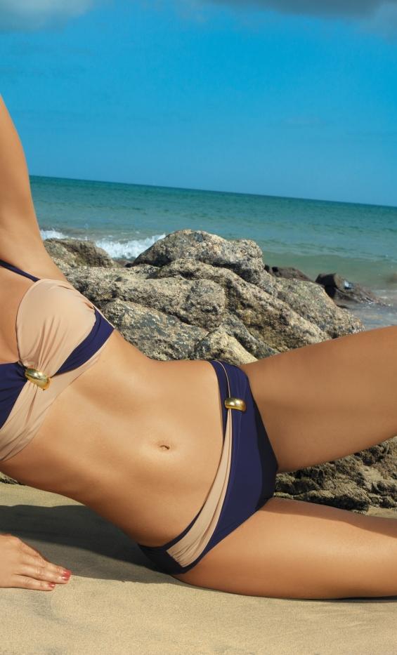 Kostium kąpielowy Liliana Uniform-Light Skin M-259 Granatowo-piaskowy (14)