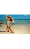Kostium kąpielowy Liliana Cubano-Seafoam Glow M-259 Brązowo-miętowy (17)