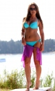 Kostium kąpielowy Cathy M-048 Turquoise (Turkusowy)