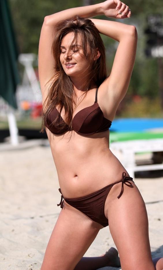 Kostium kąpielowy Jenna M-048B Brown Pearl (Brązowy perłowy)