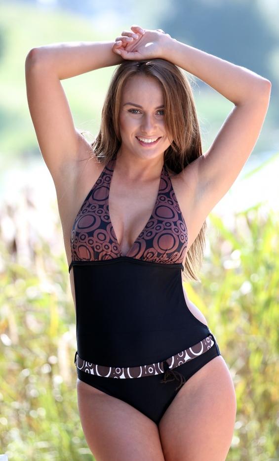 Kostium kąpielowy Vanessa M-100 Black-Brown (Czarno-brązowa)