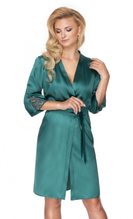 Szlafrok damski Irall Emerald Ciemnozielony
