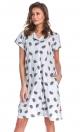 Doctor Nap Rozpinana koszula nocna w jeżyki